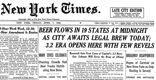 beer legalized